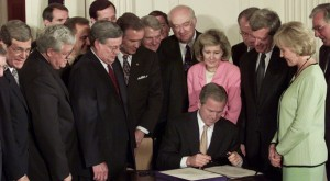 Bush signing tax cuts
