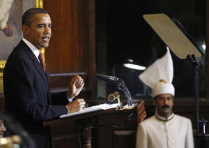 Obama habla en India