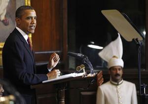 Obama habla en India