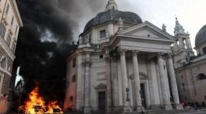 Disturbios en Roma