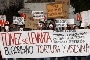 Protestas contra Túnez