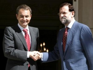 Zapatero y Rajoy